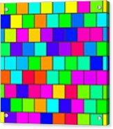 Rainbow Tiles Acrylic Print