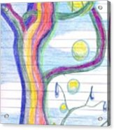 Rainbow Tree Revisited Acrylic Print