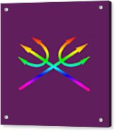 Rainbow Tridents Acrylic Print