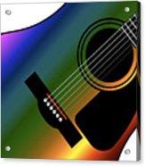 Rainbow Western Guitar Acrylic Print