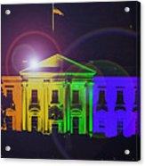 Rainbow White House Flare Acrylic Print