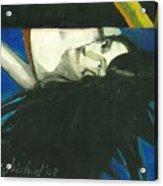 Rainbow  Woman Black Hair Acrylic Print