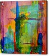 Rainbow Wreck Acrylic Print