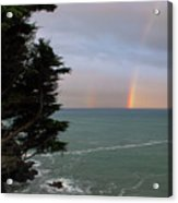 Rainbows Over The Ocean At The Mendocino Coast Acrylic Print