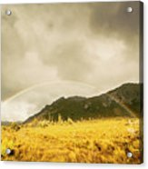 Raindrops In Rainbows Acrylic Print