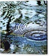 Raindrops On Water Acrylic Print