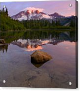 Rainier Dawn Breaking Acrylic Print
