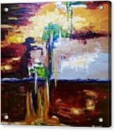 Raining Colours Acrylic Print