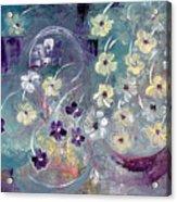 Raining Flowers Acrylic Print