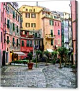 Rainy Afternoon In Vernazza Acrylic Print