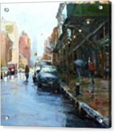 Rainy Afternoon On Amsterdam Avenue Acrylic Print