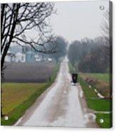 Rainy Amish Day Acrylic Print