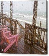 Rainy Beach Evening Acrylic Print