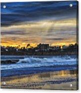 Rainy Beach Acrylic Print
