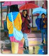 Rainy City Acrylic Print