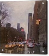 Rainy City Street Acrylic Print