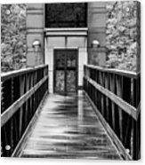 Rainy Day At Crystal Bridges Acrylic Print