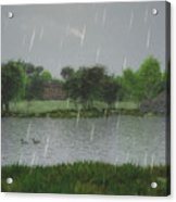 Rainy Day At The Lake Acrylic Print