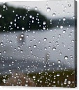 Rainy Day At The Lake Acrylic Print