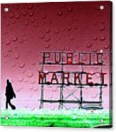 Rainy Day At The Market Acrylic Print