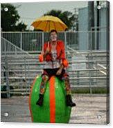 Rainy Day Clown Acrylic Print