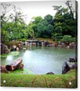 Rainy Day In Kyoto Palace Garden Acrylic Print