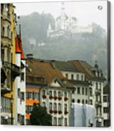 Rainy Day In Lucerne Acrylic Print by Linda  Parker
