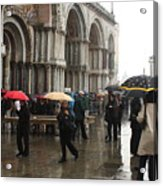 Rainy Day In Venice Acrylic Print