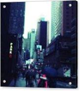 Rainy Day New York City Acrylic Print
