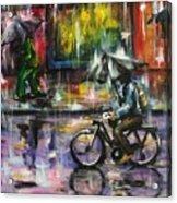 Rainy Day Original Painting Acrylic Print