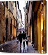 Rainy Day Shopping In Italy 2 Acrylic Print