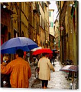 Rainy Day Shopping In Italy Acrylic Print