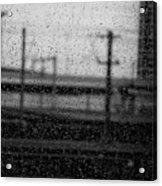 Rainy Day Train Acrylic Print