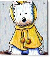 Rainy Day Westie Acrylic Print