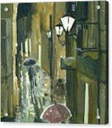Rainy Evening In Kotor Acrylic Print