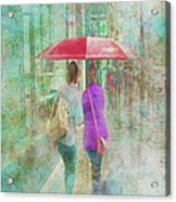 Rainy In Paris 1 Acrylic Print
