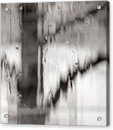 Rainy Pane Acrylic Print