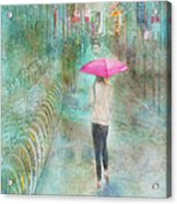 Rainy In Paris 3 Acrylic Print