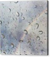 Rainy Rainbow Acrylic Print