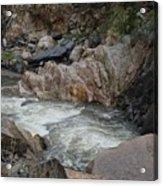 Rainy Rocky Rapids Acrylic Print