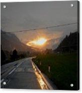 Rainy Sunset Acrylic Print