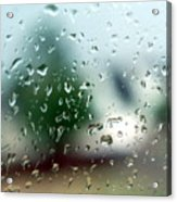 Rainy Window 1 Acrylic Print