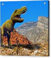 Rajasaurus In The Desert Acrylic Print