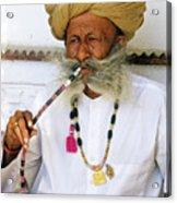 Rajasthani Elder Acrylic Print
