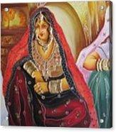Rajasthani People Acrylic Print
