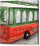 Raleigh Trolley Acrylic Print