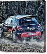 Rally Car Acrylic Print