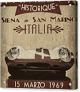 Rally Italia Acrylic Print