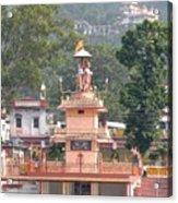 Ram Statue - Rishikesh India Acrylic Print