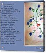 Rambling Rose Blues - Poetry In Art Acrylic Print